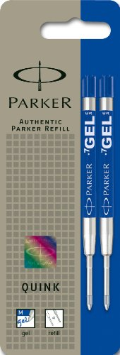 Parker QINK - Minas de repuesto para bolígrafo de tinta gel, tinta azul