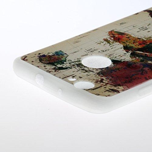 Coque Huawei P8 Lite 2017 Transparent,Coque Silicone pour Huawei Honor 8 Lite,Ekakashop Ultra Mince Mignon Cactus Motif Housse de Protection Crystal Clair Souple Gel Flexible Souple Case Coque Protect Carte