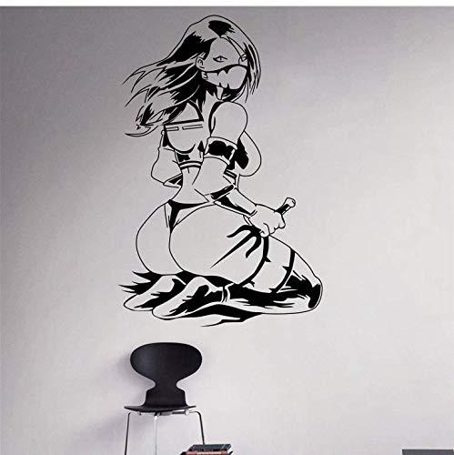cptbtptp Kreative wandkunst Dekoration Mortal Kombat Wandtattoo Vinyl Abnehmbare Wohnzimmer 58x88 cm