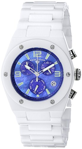 Swiss Legend 10055-WBLSA 48X40mm Ceramic Case White Ceramic Sapphire Crystal Women's Watch