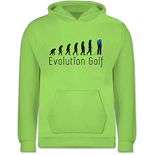 Shirtracer Evolution Kind - Evolution Golf Putten - 9-11 Jahre (140) - Limonengrün - JH001K - Kinder Hoodie -