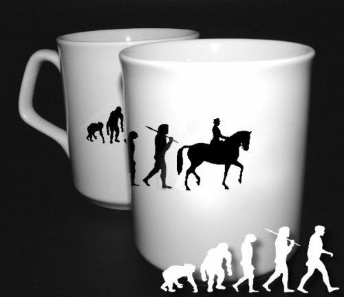 Preisvergleich Produktbild Shirtzshop Dressurreiten Reiten Dressur Pferd Evolution BÜROTASSE BUEROTASSE TASSE KAFFETASSE MUG