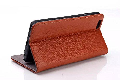 iPhone Case Cover zu haut muster lederetui einfarbig fall für das iphone 6 65 ( Color : Brown , Size : IPhone 6 6s ) Brown