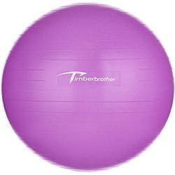 Timberbrother Pelota de Ejercicio / Bola de Gimnasia, 65 cm de Diámetro con Bomba para Ejercicio Físico y Terapia (Violeta)
