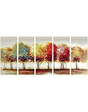 SAF 5 Panel Trees Ink Painting