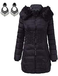 Moda Inverno da Donna Lungo Giacca Caldo Cotone Sottile Cappotto Eskimo  Trincea Outwear Giacche Sportive fb819415ff7