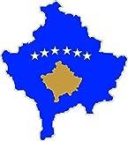 Selbstklebend Wandtattoo Sticker, Auto Vinyl Flagge Karte Kosovo