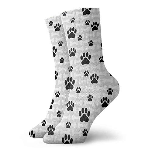 431d28eb8 Funny shirt Adult Dog Paw Bone Pattern Cushion Crew Socks 11.81