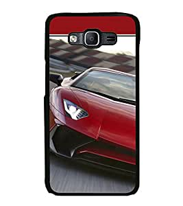 Printvisa Ultra Luxury Red Car 2D Hard Polycarbonate Designer Back Case Cover for Samsung Gal...
