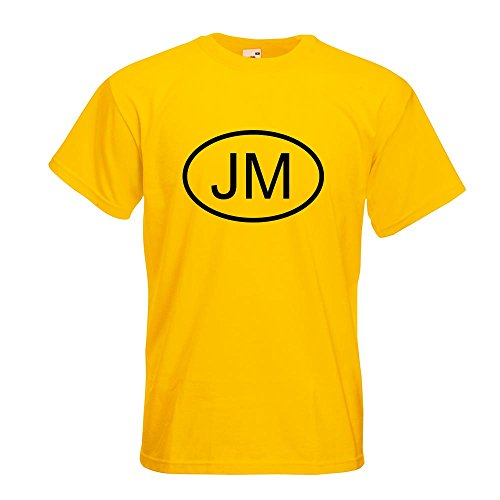 KIWISTAR - Jamaika JM T-Shirt in 15 verschiedenen Farben - Herren Funshirt bedruckt Design Sprüche Spruch Motive Oberteil Baumwolle Print Größe S M L XL XXL Gelb