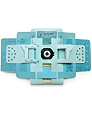 Vital's Foldscope Classroom Kit (Paper DIY Microscope) Along with 5 Pcs of Glass Slide (Blue)