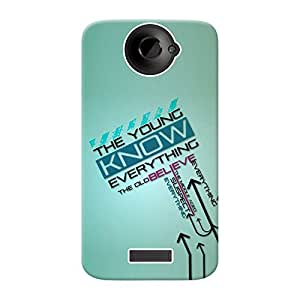 INKIF You Know Everything Quote Designer Case Printed Mobile Back Cover for HTC One X+ (Blue )