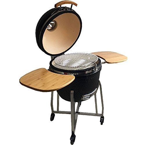 syntrox germany kamado grill karnado 1 barbecue bbq holzkohlegrill grillwagen standgrill. Black Bedroom Furniture Sets. Home Design Ideas