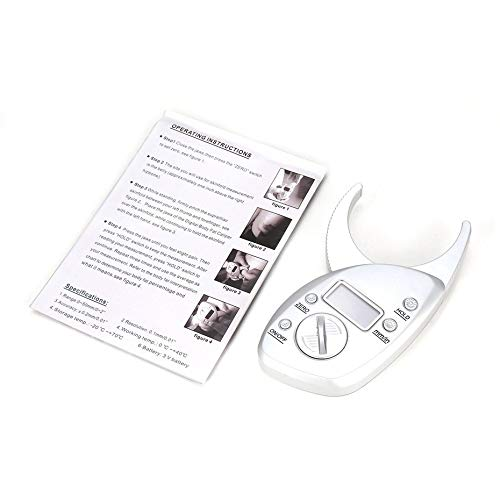 Körperfett-Messschieber Tester Waagen Fitness Monitore Analyzer Skinfold Abnehmen Messgeräte Elektronische Fettmessung - Silber