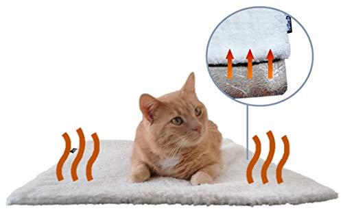 PurrCave Selbstheizende Decke für Katzen u. Hunde mit Anti-Rutsch Gummi-Noppen | Besonders...