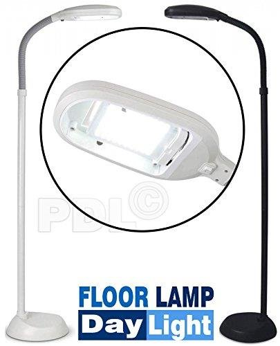 27W Energy Saving Daylight SAD Reading Hobby Craft Floor Standing Lamp Light New (Grey)