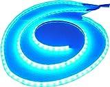 2x 100cm Mondlicht LED Leiste, Blaue LED, 2 flex Streifen gesamt 200cm, 120 SMD