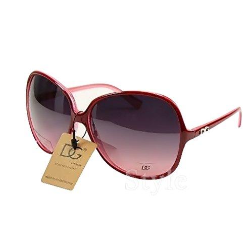 DG Eyewear ® Sonnenbrillen für Frauen Übergroße Designer Sonnenbrille 2018 UV400 (UVA & UVB) - Mode Sonnenbrillen Damen
