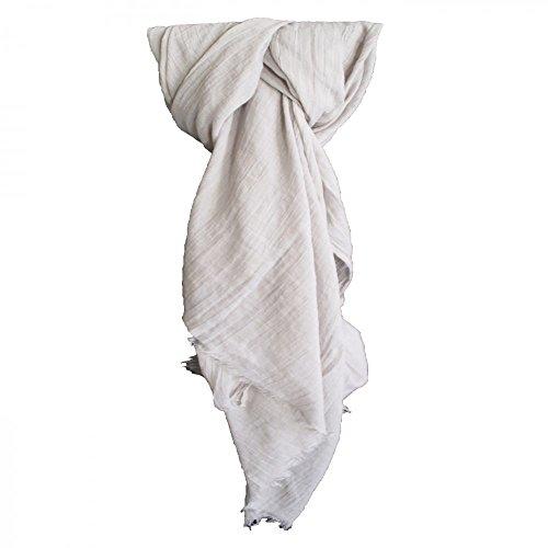 Shopping-et-Mode - Etole couleur gris unie en coton - Gris, Coton