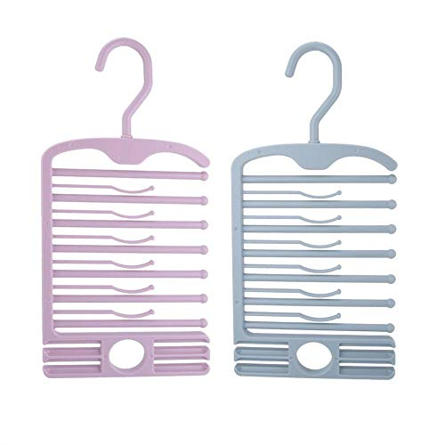 Wifehelper Multifunktionale mehrschichtige Kunststoff rutschfeste Schrank Lagerregal Krawatte Gürtel Schal Organizer für Gürtel, Herren Krawatten, Damen Schals, Schals(Blau) (Herren Verdickt Schal)