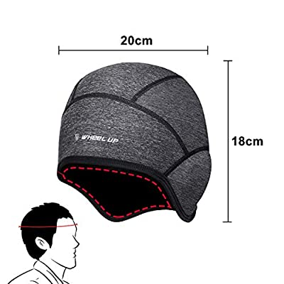 Winter Skull Cap Beanie, Cycling Hat Caps for Under Helmet Men Women with Windproof Thermal Fleece, Motorcycle Helmet Liner Cycle Cap Cover for Outdoor Sports Riding/Skiing/Running - Dark Gray from BHGWR