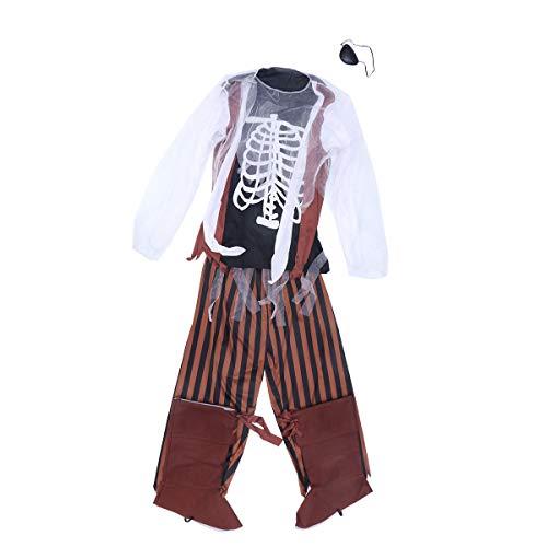 BESTOYARD Pirate Zombie Kostüm Kampf Ausrüstung Halloween Kinder -