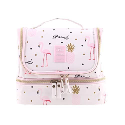 Tuscall Kulturbeutel zum aufhängen Kulturtasche für Damen - Waschbeutel Kosmetiktasche mit Haken für Reisen, Urlaub, Outdoor (Pink...