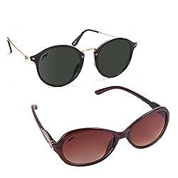 Criba Anti-Reflective Aviator Unisex Sunglasses - (LAGRNDBLK|50|Black Color)