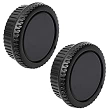Fotover Kamera Gehäusedeckel Hinten Objektivdeckel Ersatz Set kompatibel mit Alle Canon EOS EF Mount DSLR Kameras 6D Mark II 5D Mark IV EOS 200D 60D 80D 70D 5Ds R 5D Mark III 600D,2 Sets
