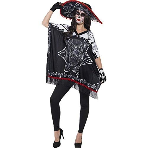 en Tag der Toten Bandit Kostüm, One Size, schwarz/weiß (Herren Tag Der Toten Halloween-kostüm)
