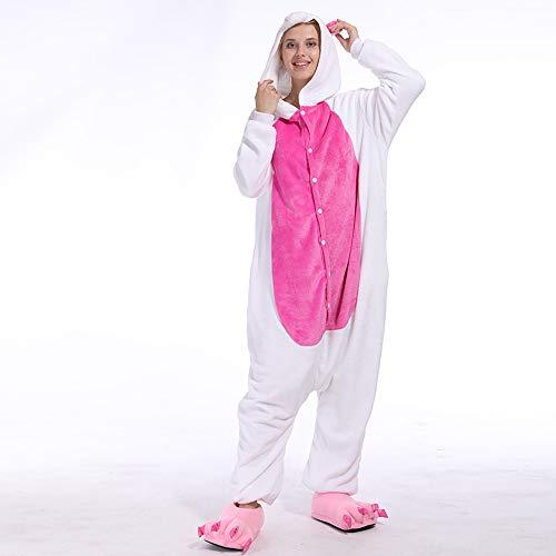 Vokaer Unicorn Jumpsuit Flannels Pyjamas Erwachsene Unisex Haustiere Cosplay Halloween Christmas Party Kostümfest,Roseredunicorn,M (Sehr Schnelle Und Einfache Halloween-kostüme)