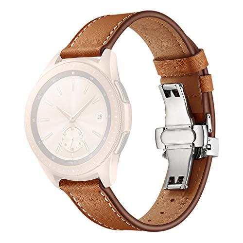 Ersatzarmbänder Zubehör Samsung Happysdh Uhrenarmbänder Band Watch Kompatibel Sl armbänder Replacement Mit 20mm Leder Fitness Active Smart TK1FJlc