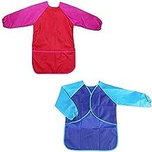 Toyvian 2 Piezas Impermeable Delantales de Niño,Delantales para niños para Edades ...