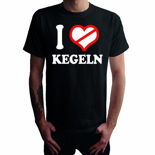 I don't love Kegeln Herren T-Shirt Schwarz