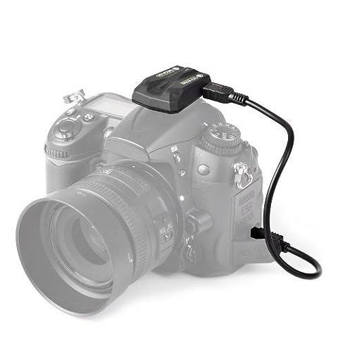 P-Franken GPS Module pour Nikon - Système de géolocalisation pour Nikon D90 - D600 - D610 - D7000 - D7100 - D5000 - D5100 - D5200 - D5300 - D3100 - D2Xs - D2X - D2Hs - D3S - D3X - D3 - D4 - D4s - Df - D900 - D800 - D810 - D700 - D300s - D300 - D200 - Coolpix A - Coolpix P7800 - Coolpix P7700 - Fujifilm Finepix S5 Pro