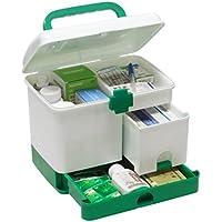 DYFO Hausapotheke Mehrfunktional Aufbewahrungsbox Medizin-Box mit Griff Erste Hilfe Box für Familie,Reisen,Rettung-Grün preisvergleich bei billige-tabletten.eu