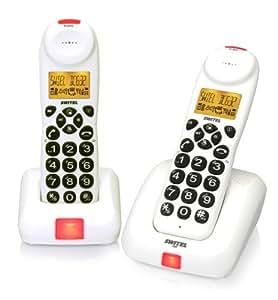 Switel dc632 Pack de 2 Téléphones sans fil Blanc