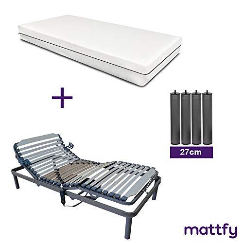 MATTFY Pack Cama ARTICULADA Reforzada 5 Planos + COLCHÓN