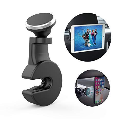Tablet und Handy Halterung fürs Auto mit Extra Magnet Wird an der Kopfstütze Befestigt als Auto Organizer