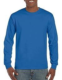 Gildan T-shirt à manches longues pour homme Col ras du cou