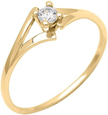 Bijoux pour tous mujer  9 Carats (375/1000)  oro amarillo    blanco  FINERING