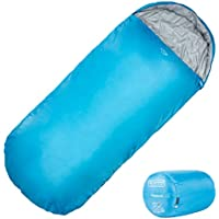 Highlander Sleephaven Envelope Sleeping Bag ― Extra Large, 2 Season, Polyester, Lightweight Single Bag with Compression Sack ― Perfect for Men, Women, Boys, Girls ― Camping, Caravans, Sleepovers, Trips, Festivals