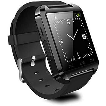 Reloj Inteligente Smartwatch Bluetooth Negro con notificaciones y lectura de Whatsapp
