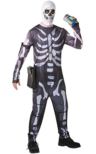 Fortnite - Disfraz Skull Trooper para adulto, talla L (Rubies 300195-L)