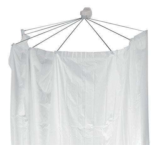 """Spirella Duschspinne Duschfaltschirm \""""Ombrella\"""" weiß Duschvorhang"""