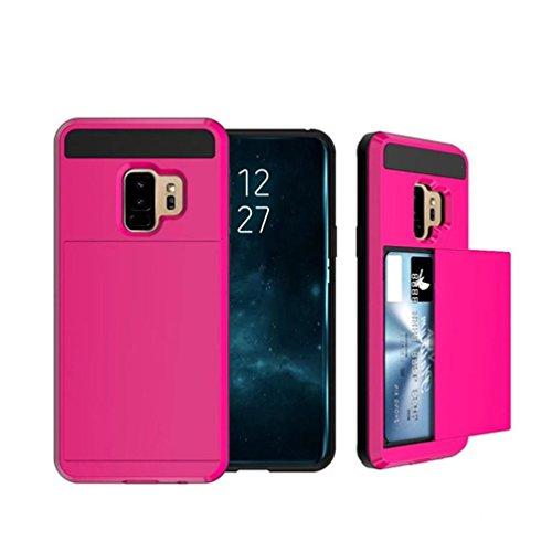 Für Samsung Galaxy S9 Plus 6,2 Zoll Karte Brieftasche Slot Hybrid Hard Slim Telefon Fall Abdeckung (hot - Richtung Eine Samsung Fällen