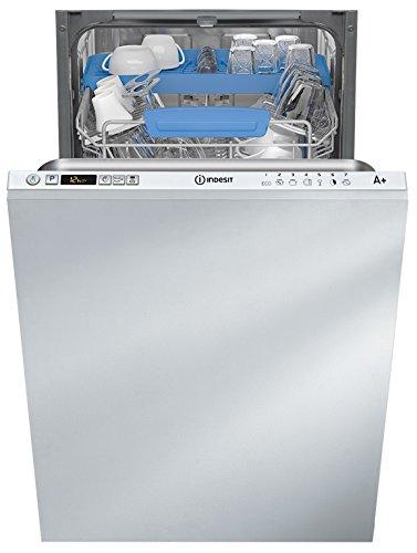 Indesit DISR 57M19 CA EU lave-vaisselle Entièrement intégré 10 places A+ - Lave-vaisselles (Entièrement intégré, Compact (45 cm), Boutons, 1,28 m, panier, 10 places)