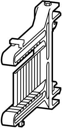 Eaton 233782 Hutschienenadapter für Sichtklappenfenster zum Fronteinbau von Steuerrelais -