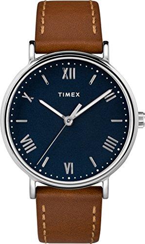 Timex Herren Datum klassisch Quarz Uhr mit Leder Armband TW2R63900