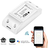 Interruttore Wi-Fi, ABEDOE Wireless Wi-Fi DIY Smart Switch Module Supporto APP Telecomando Funziona con Alexa Google Nest Elettrodomestici, Aggiornamento a basso costo Smart Home Solution (1)